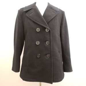 DSCP Quarterdeck Collection Black Wool Peacoat OW